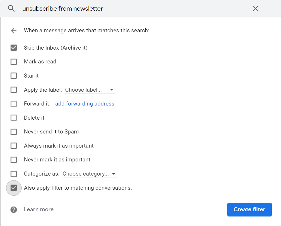 Gmail filters, gmail, email, email labels,