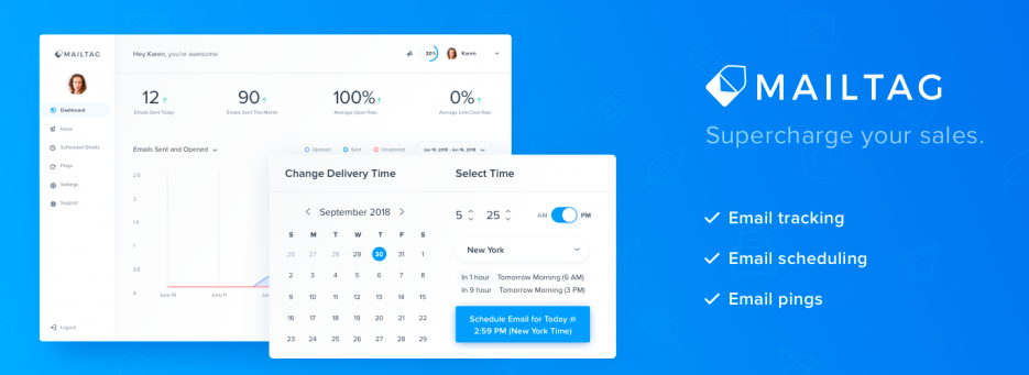 MailTag, Tracking emails