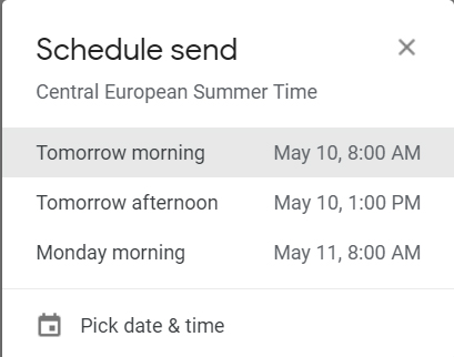 How to Send Emails Later in Gmail